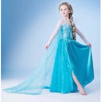 Fantasia Vestido Frozen Elsa E Anna Luxo - A Pronta Entrega