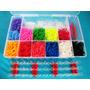Kit Fabrica Tear Maleta 2400 Elasticos Pingentes Loom Bands