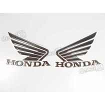 Adesivos Asa Honda Tanque Hornet 2013 Resinado Pretovermelho