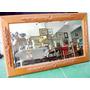 Antigo Espelho Com Moldura Em Madeira Maciça Sem Quebras