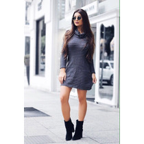 Vestido Moletom Gola Boba Blogueiras Outono/inverno 2016