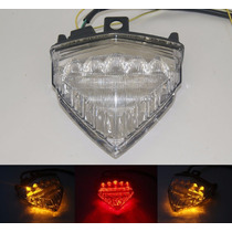 Lanterna Led Cristal Com Piscas Honda Cb1000r Cbr600f Hornet