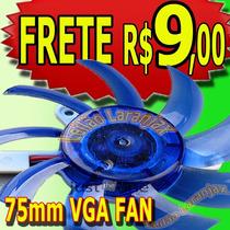 Cooler Placa De Video 75mm Fan Nvidia Amd Intel Ventoinha
