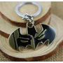 Chaveiro Do Batman Dourado Morcego Negro 6cm X 3cm Dc Comics
