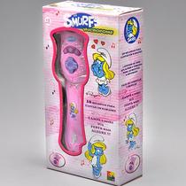 Microfone De Brinquedo Infantil Os Smurfs Rosa - Cks