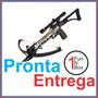 Besta Terena, Mira Óptica 4x20, 80 Libras, 6 Flechas, Arco