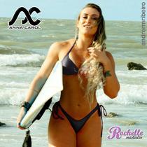 Bikinis Anna Carol Conjunto Fio Dental Com Bojo Bac-5 Preto