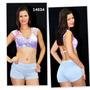 Conj Fitness Shorts +top C/bojo Removível R.14634
