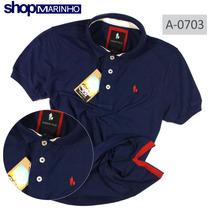 Camisa Polo Masculina, Sheepfyeld Com Detalhes Lateral