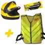 Kit Moto Táxi Com Colete Refletivo Amarelo