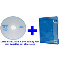 Mídia Virgem Bd-r 25gb Blu Ray Maxell Box Bluray Azul