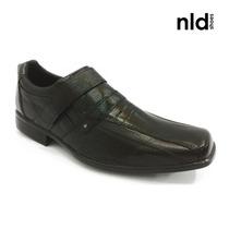 Sapato Masculino Couro Preto - Linha Social - Nld- Ref Ro200