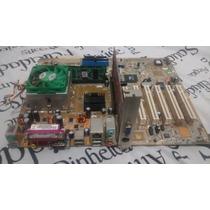 Kit Placa Mãe Asus A7v8x-x + Processador Athlon + Memoria