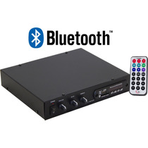 Receiver Amplificador P/ Som Ambiente Slim 1200 Radio Fm Usb