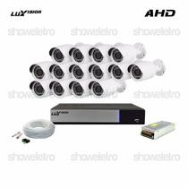 Kits De Monitoramento Ahd Luxvision 14 Câmeras Infra Ahd P2p