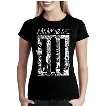Camiseta Bandas Rock Paramore Baby Look Feminina