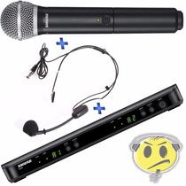 Microfone Shure Duplo Mão + Headset Blx1288br / Pg30