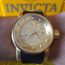 Relogios Yaku Invicta S1 Rally Dourado Pronta Entrega Novel