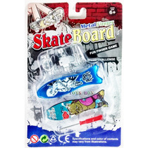 Skate De Dedo Fingerboard De Metal Com Acessórios