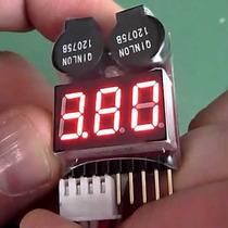 Medidor Bateria Lipo Life Li-ion Buzzer Bip Testador Voltage