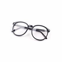 Armação Óculos Nerd Simples Lente Transparente Unissex