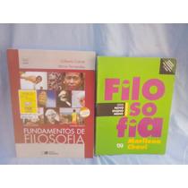 2 Livros Filosofia - Gilberto Cotrim - Marilena Chaui