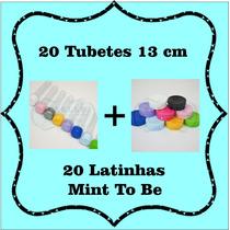 Kit Lembrancinhas 20 Tubetes + 20 Latinhas Mint To Be