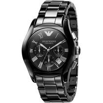 Relógio Emporio Armani Ar1400 Cerâmica C/ Caixa E Manual