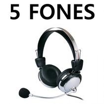 Kit Com 5 Fones De Ouvido - 301mv - 105db - Para Lan House
