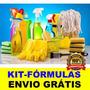Kit-fórmulas - Como Fabricar Produtos De Limpeza - Completo