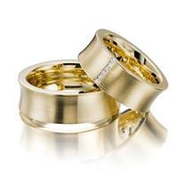 Par Alianças 22 Grs 10mm Ouro18k Diamantes Frete Nota Fiscal
