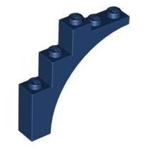 Brick Arco 1x5x4 Azul Escuro