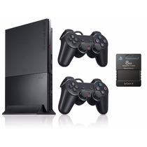 Playstation 2 Slim Novo - Desbloqueado 2 Controles Memory