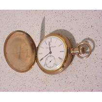 Antigo - Relógio Bolso Elgin Nalt Watch Co Banho Ouro