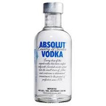 Vodka Absolut Miniatura 200ml Mini