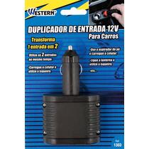 Duplicador Tomada Saída 12v Adaptador P/ Carro Western X1303