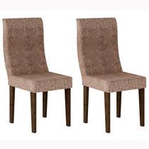 Conjunto 2 Cadeiras Verona Rufato Wengué/suede Amassado