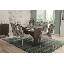 Conjunto De Mesa Munic Com 6 Cadeiras - Mobisul