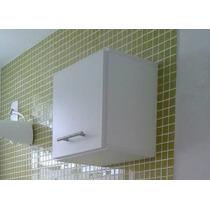 Armário Nicho Decorativo Mdf Branco 30x30x15cm C/ Porta