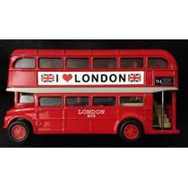 Ônibus Inglês Brinquedo Metal