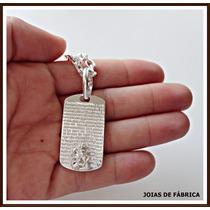 Pingente São Jorge Com Oração Em Prata 950