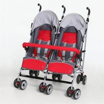 Carrinho De Bebê Para Gêmeos Vermelho Zib - Dzieco - 4babies