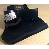 Calça Masculina Calvin Klein+cinto+carteira Kit Calvin Klein