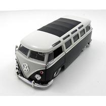 Volkswagen Kombi Bus Van 1962 Preto 1:24 Jada Toys #jad91693