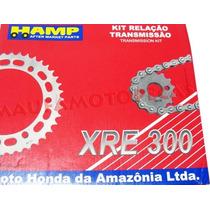 Kit Relação Transmissão Honda Xre300 C/retentor Origina Hamp