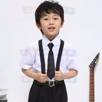 Conjunto Infantil Com Suspensório Calça Camisa Curta Gravata