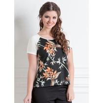 Blusa Camisa Camiseta Estampada Manga Curta Feminina Barato!