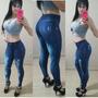 Calça Legging Estampa Jeans Rasgado Fitness Kit 20 Pcs