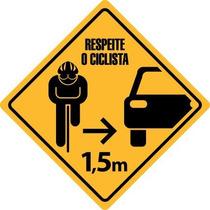 Kit 4 Adesivos Respeite O Ciclista - Frete Grátis