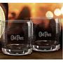 Dois Copos Personalizados Whisky Grand Old Parr Cx Original.